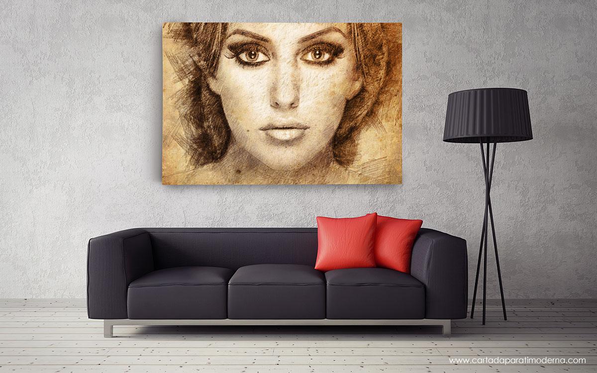 Ritratto Foto Matita Pastelli