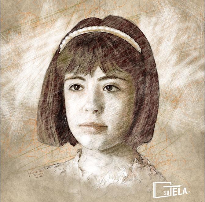 ritratto personalizzato di bambina