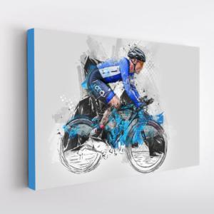 ritratto da foto ciclista