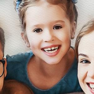 illustrazione per ritratto personalizzato di famiglia