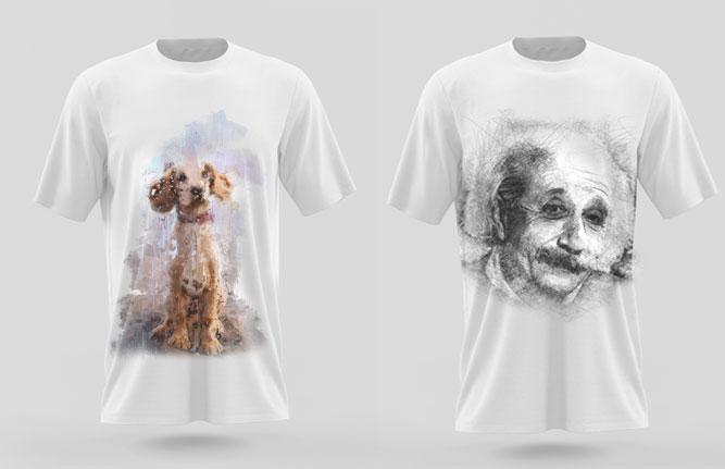 maglietta personalizzata con ritratto