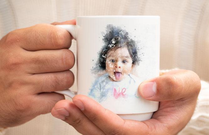 tazza personalizzata con ritratto