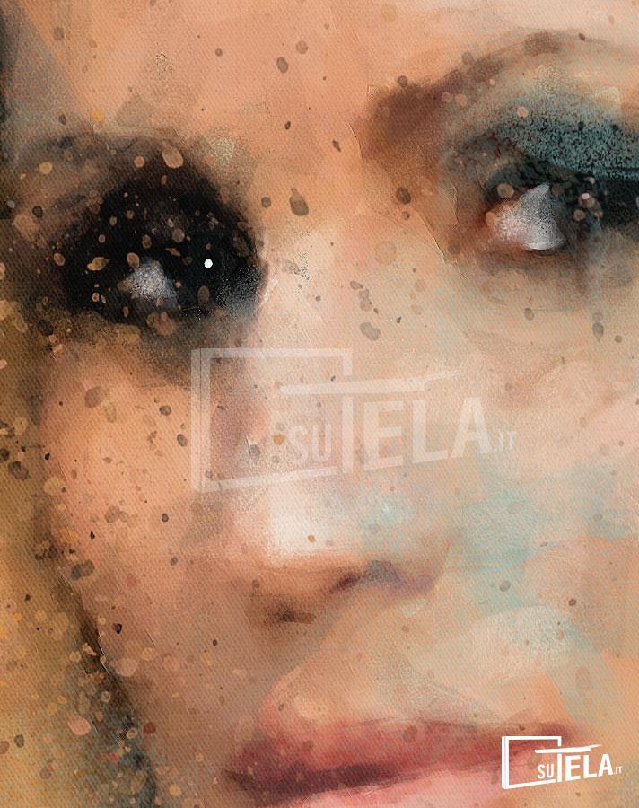 Michelle Hunziker ritratto personalizzato da foto