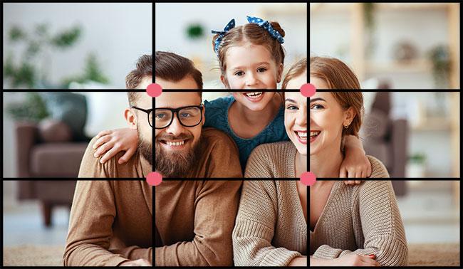ritratto di famiglia proporzioni